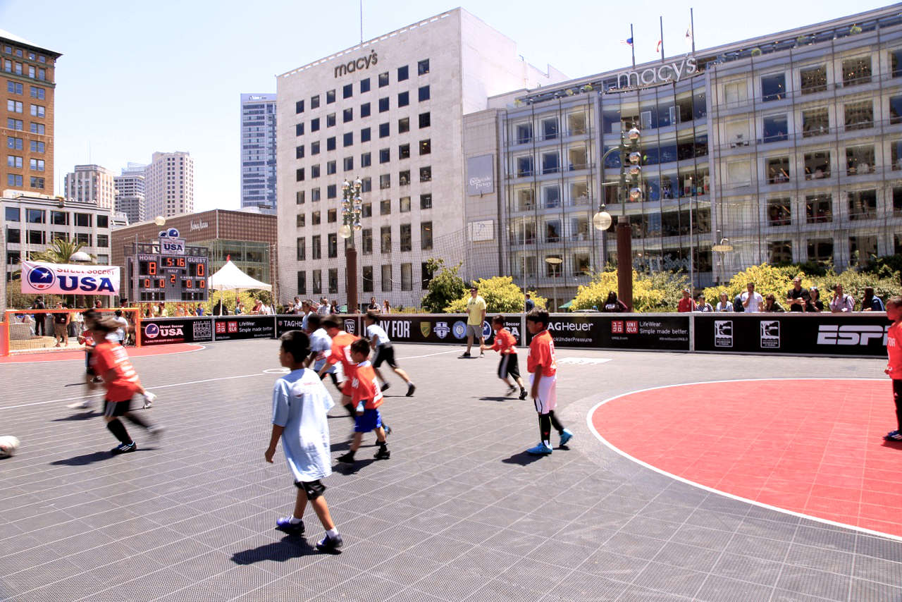 Street Soccer USA at Union Square, San Francisco